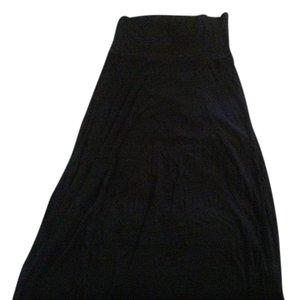 Gap 100% Viscose Fold Over Maxi Skirt True Black