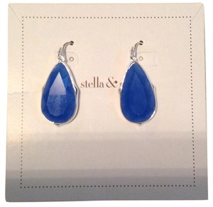 Stella & Dot Sentiment Stone Drops - Deep Sea Quartz E286