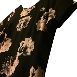 Vince Camuto short dress black Floral Polyester on Tradesy