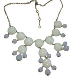 J.Crew Jcrew bubble Ivory and clear necklace