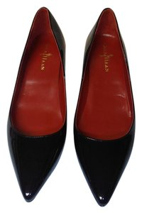 Cole Haan Nike Air Patent Leather Small Heel Pointy Toe black Pumps