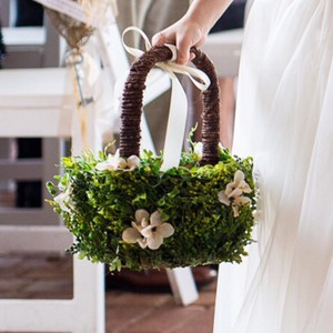 Southern Chic Flower Girl Basket