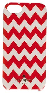 Kate Spade Kate Spade Hardshell Orange and White Chevron Case Cover iPhone 5/5S