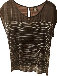 Bobeau T Shirt Black with white stripes