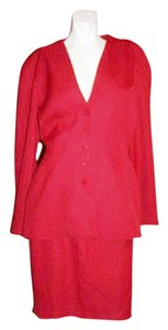 Thierry Mugler Thierry Mugler Red Skirt Suit MADE IN FRANCE Size T.44