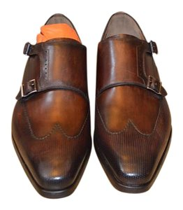 Magnanni Brown Leather Monk Formal