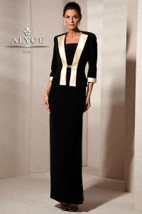 Alyce Paris Black/Champagne Style 29601 Dress