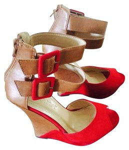 Liliana Wedge Sandal Red Wedges