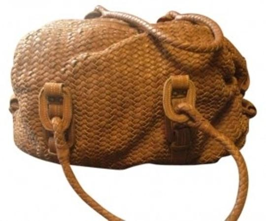 Cole Haan Weave Leather Slouchy Tote in Soft brown