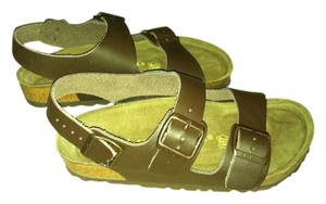 Birkenstock Genuine Brown chocolate leather Sandals