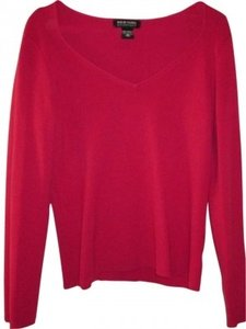 New York & Company Rose Long Sleeves Sweet Hear Neck Soft Classic Sweater