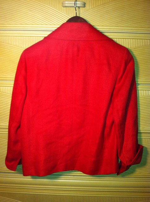 Ralph Lauren Linen Fire Engine Red Blazer