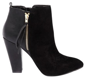 Steve Madden Faux Leather Suede Black Boots