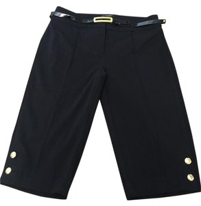 Style & Co Bermuda Shorts Black w/ gold buttons