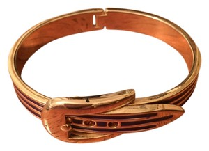Unknown Purple and Gold Buckle Bracelet