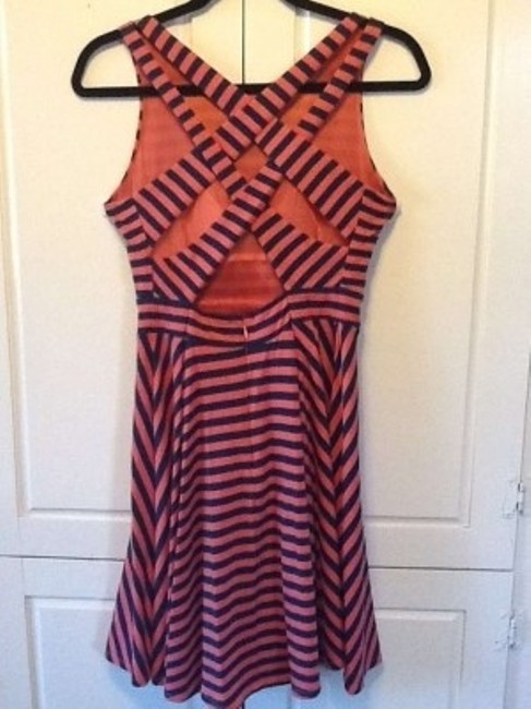 Lark & Wolff by Steven Alan short dress Coral-Navy Urban Outfitters Open-back on Tradesy