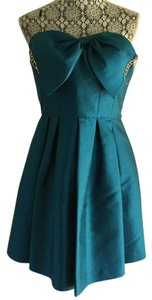 Oscar de la Renta Strapless Bow Embellished Store Display Never Worn Dress