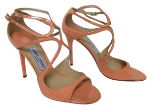 Jimmy Choo Strappy Lang Display Never Worn PEACH Sandals