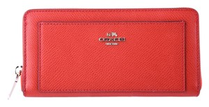 Coach * Coach F52648 Xgrain Accordion Zip Leather Wallet