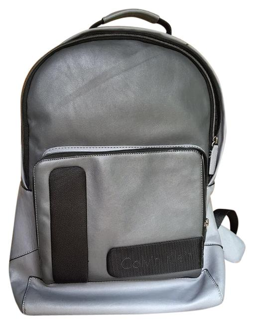 Item - Gray Leather Backpack