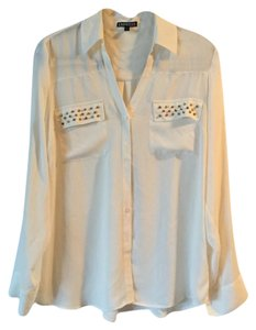 Express Button Down Shirt Off-White