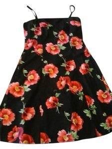Studio Y short dress Black- floral on Tradesy