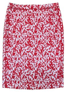 Halogen Skirt Red and White Pattern