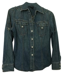The Limited Shirt Button Down Shirt Denim