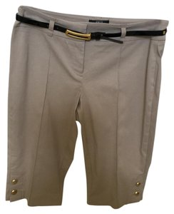 Style & Co Bermuda Shorts Beige with gold buttons