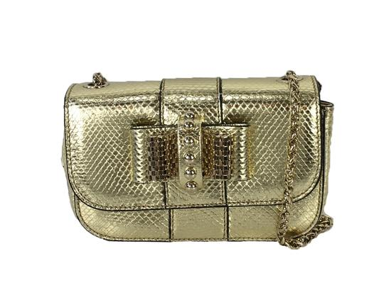 Christian Louboutin Luxury Exclusive Snakeskin Evening Cross Body Bag