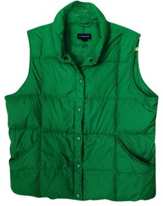 Lands' End Puffer Kelly Large Vest