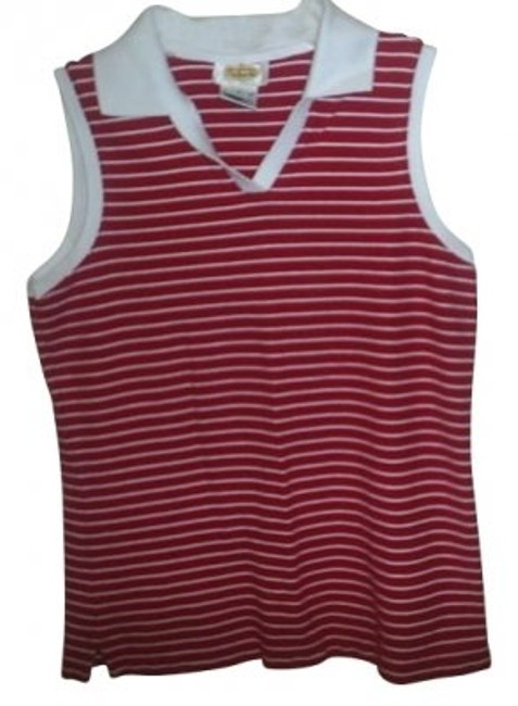 Preload https://item3.tradesy.com/images/talbots-red-and-white-sleeveless-collared-pullover-tee-shirt-size-6-s-16087-0-0.jpg?width=400&height=650