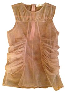 Zara Top Beige Sheer