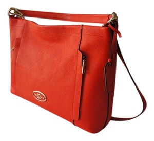 Coach Shoulder Strap Crossbody New With Tags Pebbled Leather Hangtag Hobo Bag