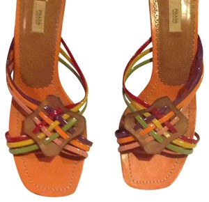 Prada Orange base with multi Sandals