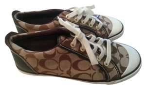 Coach Sneakers Barrett Signature Print Jacquard Canvas Brown Athletic