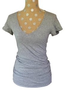 Tee Shop Vs V-neck Sleeve T Shirt Gray