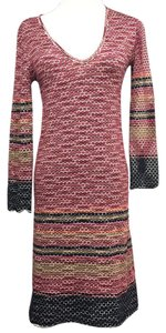 M Missoni short dress Maroon Black Brown White on Tradesy