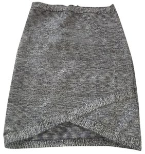 bebe Mini Skirt Gray silver