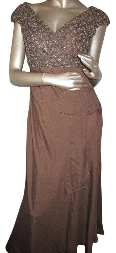 3be8a8dd8afff Brown Gown 8p Formal Dress