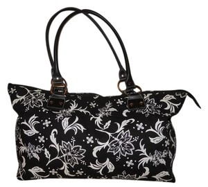 Other Canvas Tote Duffle black & white Travel Bag