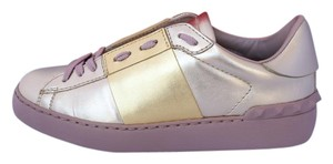 Valentino Leather Metallic Studded Rubber Gold Athletic