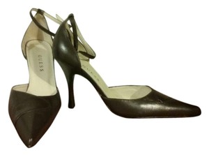 Guess Leather Made In Spain Chocolate Brown Pumps