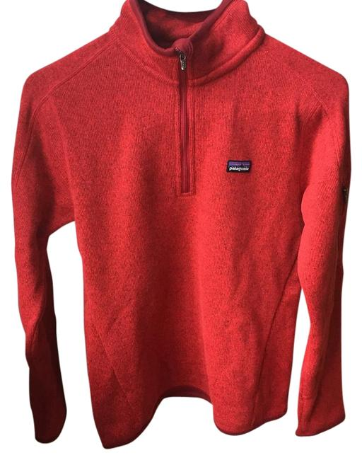 Item - French Red Quarter-zip Better Sweater Activewear Size 4 (S)