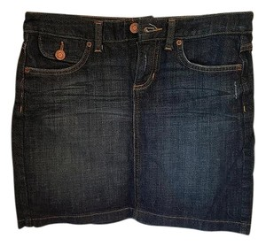 Gap Mini Jeans Mini Skirt Dark Rinse Denim
