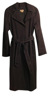 Midnight Velvet Cotton Trench Coat