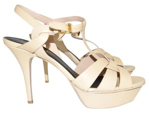 Saint Laurent beige leather Sandals