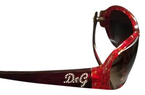 Dolce&Gabbana Red Mosaic Dolce and Gabbana Sunglasses with case