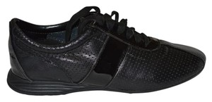 Cole Haan Leather Patent Leather Black Athletic