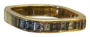 Montaldos Diamond and gold anniversary band in square shank